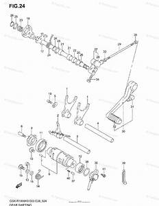 Suzuki Motorcycle 2003 Oem Parts Diagram For Gear Shifting