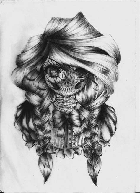 Anime Girl Mexican Skulls
