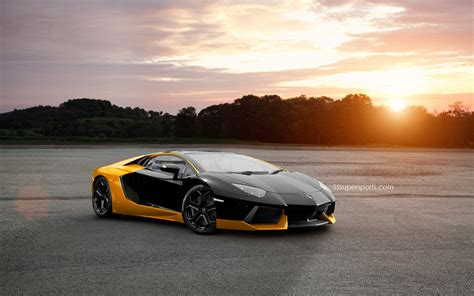 Lamborghini Wallpapers by Black And Yellow Lamborghini Wallpaper 1 Free Hd Wallpaper