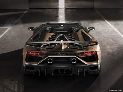 Svj Lamborghini Aventador Roadster Rear Ipad 1024