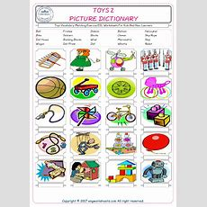 Toys Vocabulary Matching Exercise Esl Worksheets For Kids And New Learners
