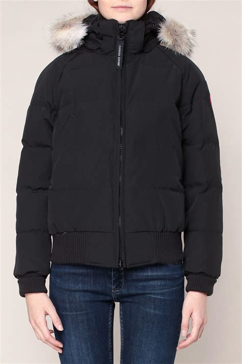 black quilted vest lyst canada goose quilted jacket in black