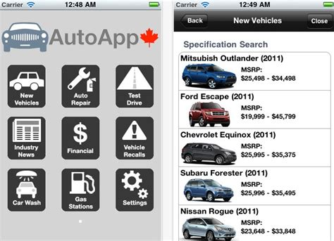 automotive app canadian car information