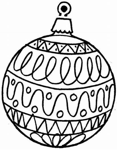 Coloring Christmas Pages Ornament Ornaments Printable Getcolorings