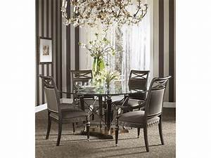 Round glass dining room table bombadeaguame for Choosing glass dining room tables for small space