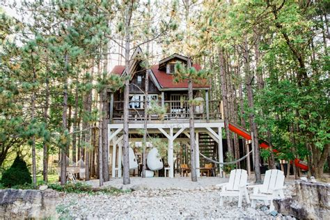 House In Tree by Treehouse Cabin Vacation Rental