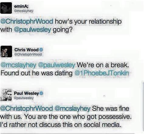 paul si鑒e social social weekly 1 paul wesley e chris wood amanti la colton ian bohen la foto imbarazzante di willa il di luigi toto