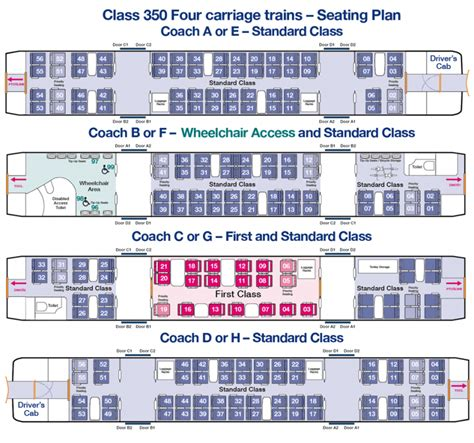 train seating plans  plans  transpennine express