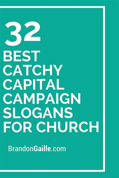 catchy capital campaign slogans  church