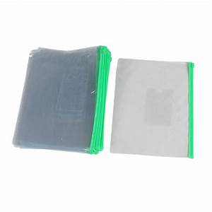 20pcs green clear plastic slider zip lock bags files With poly zip document holder