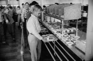 1950s School Cafeteria Lunch