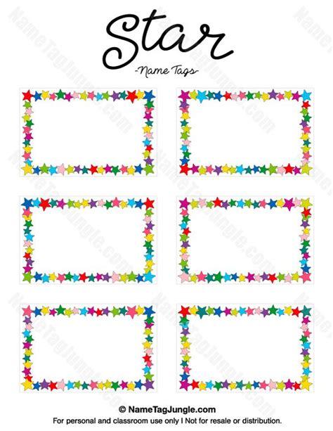 Name Tag Template Free Printable Blank Name Tags Printable 360 Degree