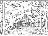 Cabin sketch template