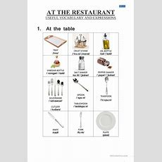Food  At The Restaurant  Vocabulary Worksheet  Free Esl Printable Worksheets Made By Teachers