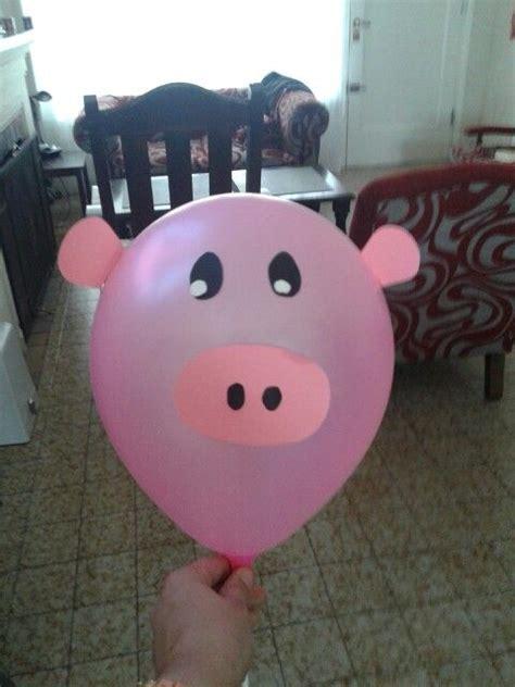 decoracion globos animales de la granja hecho  mi