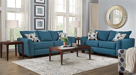 and in livingroom bonita springs blue 7 pc living room living room sets blue