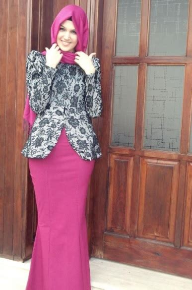 kebaya batik muslim modern  anggun  keren