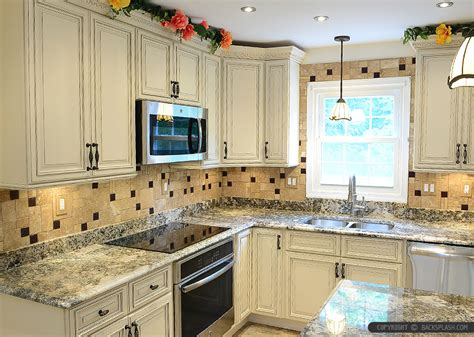 Green And Red Kitchen Ideas - travertine tile backsplash photos ideas