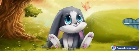 cute cartoon bunny anime  cartoons facebook cover maker