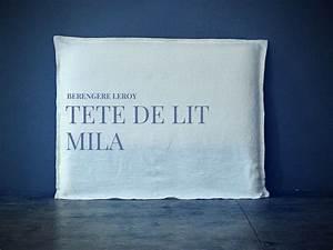 Tete De Lit En Lin : tete de lit en lin lave blanc mila realisations mobilier sur mesure paris b reng re leroy ~ Teatrodelosmanantiales.com Idées de Décoration