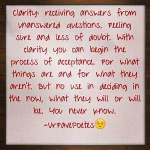 Clarity Quotes ... Clarity Relationships Quotes