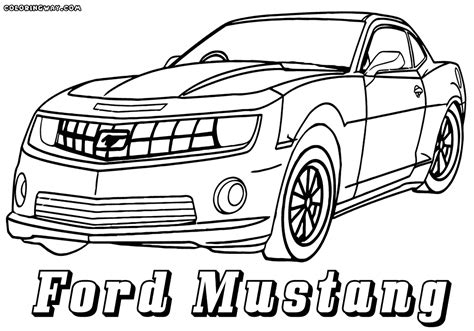 Ford Kleurplaat by Mustang Coloring Pages Coloring Coloring Pages