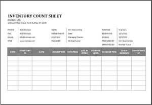 Excel Templates For Inventory Physical Inventory Count Sheet Template For Excel Word Excel Templates