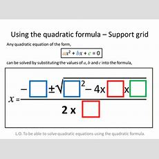 Quadratic Formula Differentiated Worksheets By Zbrearley  Teaching Resources Tes