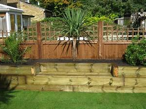 Railway sleepers small gardes pinterest raised bed for Decoration pour jardin exterieur 7 dressing design