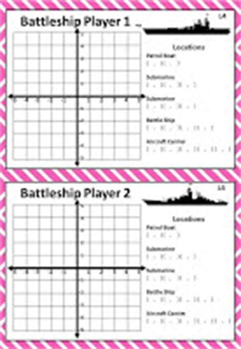 Bayside Math Teacher  Coordinate Battleship Game