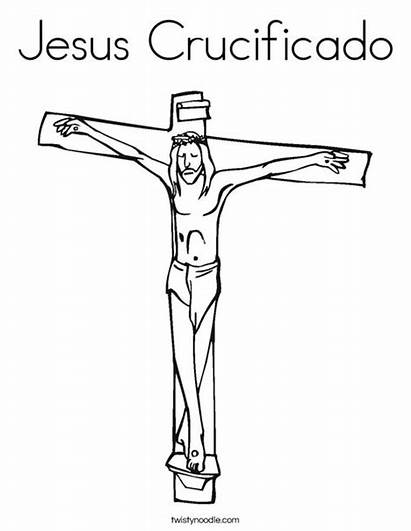 Jesus Coloring Pages Cross Crucificado God Template