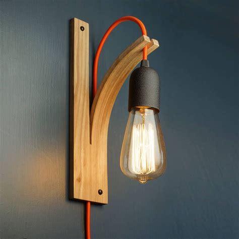 wall bracket light ash grey and wall plug