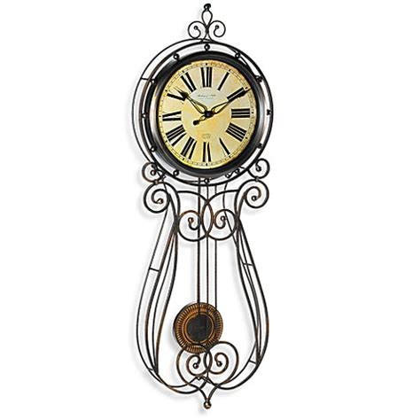 wrought iron wall clock sterling noble wrought iron 32 inch regulator clock 1669