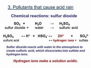 Contents Review of pH Definition of acid rain Pollutants ...