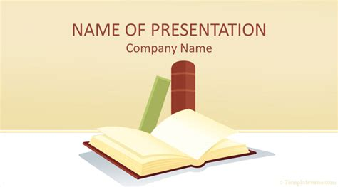 books powerpoint template templateswisecom