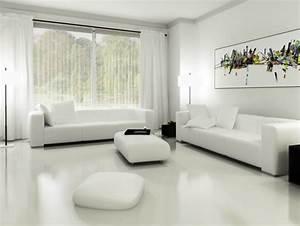 Minimalist, White, Living, Room, Budget