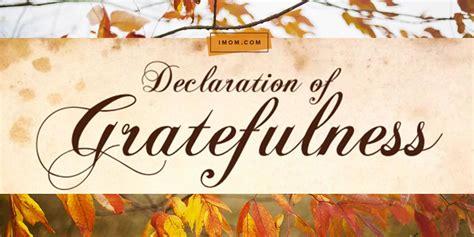 declaration  gratefulness imom