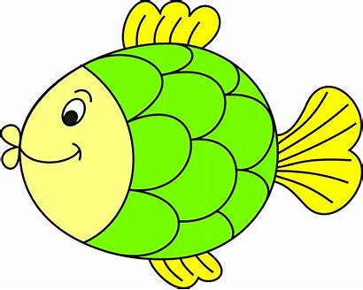 Fish Colour Coloured Clipart Cartoon Colorful Openclipart