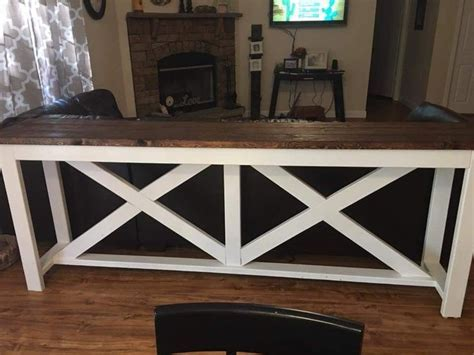 """Bar table behind the couch   Checked off the """"Honey do"""