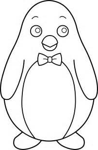 Black and White Penguin Clip Art