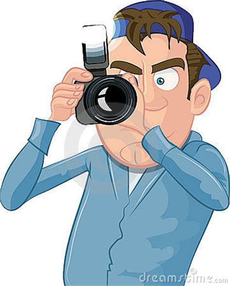 13237 photographer taking a picture clipart paparazzi with a royalty free stock images