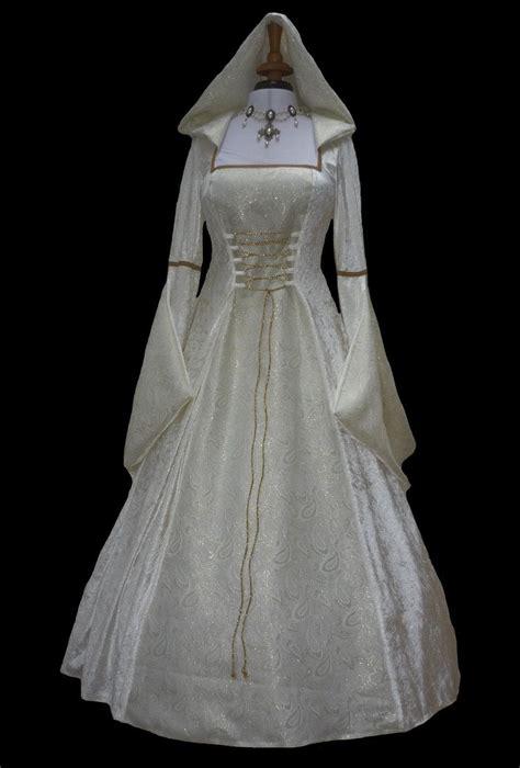 hexe kostüm renaissance hooded wedding dress pagan dawns dresses