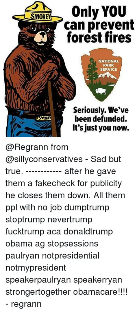 Only You Can Prevent Forest Fires Meme - only you smok can prevent q forest fires national park service seriously we ve been defunded it