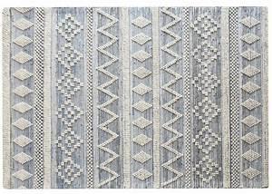 Tapis Laine Blanc : tapis style berb re blanc bleu chez ksl living ~ Melissatoandfro.com Idées de Décoration