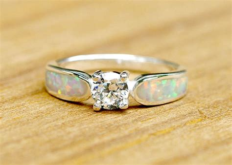 engagement ring opal ring wedding ring october birthstone birthstone r hwstar