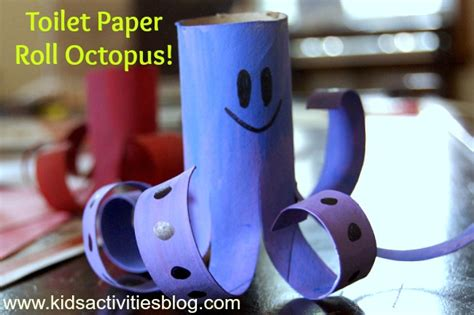 adorable octopus toilet paper roll craft   gallery