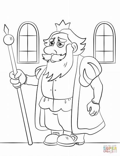 Coloring King Pages Cartoon Nebuchadnezzar Printable Colorings