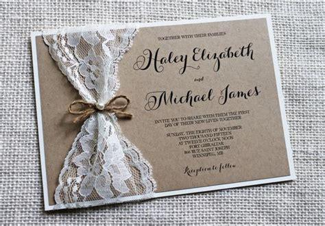 Vintage Lace Wedding Invitation Lace Wedding Invitation