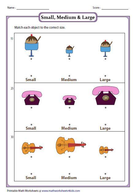 Big And Small Worksheets