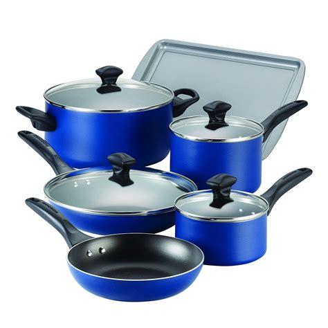farberware dishwasher safe nonstick aluminum  piece cookware sets  colors ebay